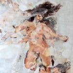 """Ausschnitt aus der Arbeit """"Milk"""", Akt-Darstellung einer Frau in Collage-Technik"""