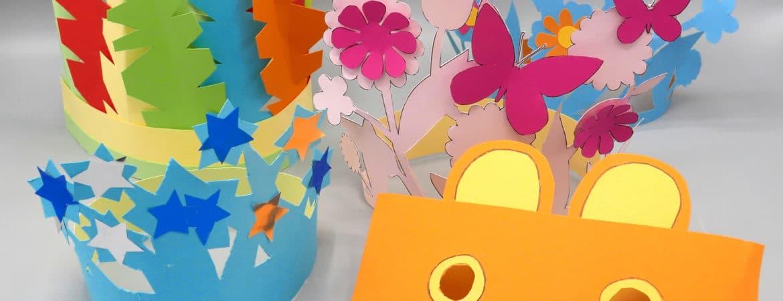 Bärenmaske, Feder-, Blumen- und Sternenkrone