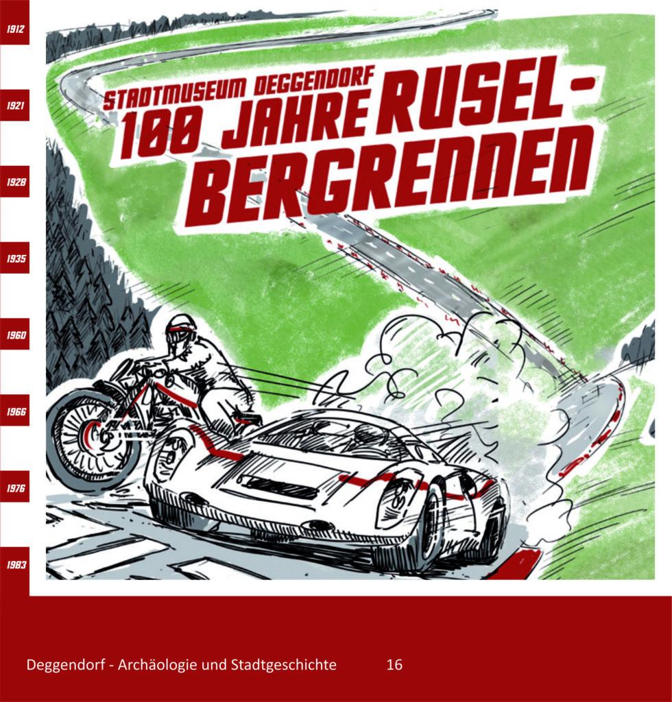 Museen Deggendorf - Publikation 100 Jahre Ruselbergrennen Coverbild