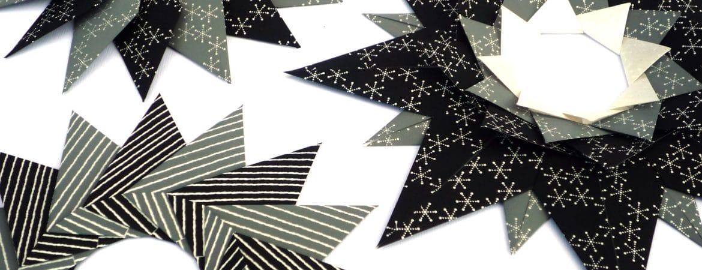 Weihnachtliche Origami-Sterne