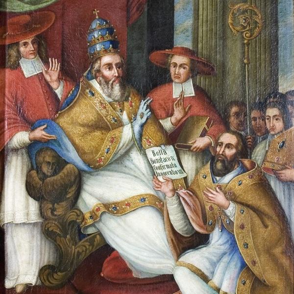 Historisches Gemälde der Ablässe der Deggendorfer Grabkirche (
