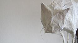 Katze aus Draht mit Japanpapier aus dem Kinder-Workshop