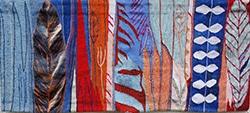 Textiles Kunst-Bild von Jutta Pointner aus dem Stadtmuseum Deggendorf