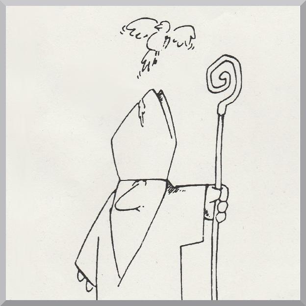 Karikatur eines Bischofs aus dem Vortrag