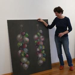 Foto aus der Künstlerführung mit Elisabeth Mehrl