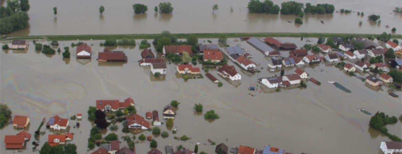 Luftbild vom Hochwasser 2013 in Deggendorf aus dem Stadtmuseum Deggendorf