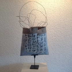 Papier-Tasche aus dem Workshop im Stadtmuseum Deggendorf