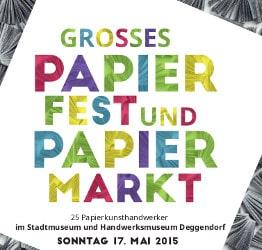 Logo Papierfest 2015 im Stadtmuseum Deggendorf