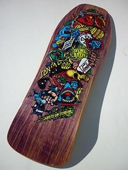Skateboard aus der Ausstellung