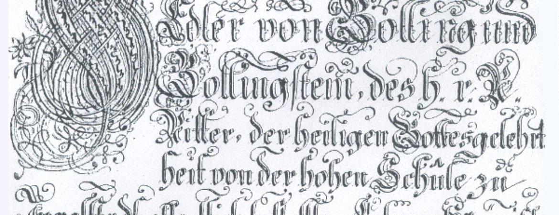 """Wappenbrief von Stadtpfarrer Johann Heinrich von Golling und die """"Judenlitanei"""" im Stadtmuseum Deggendorf"""