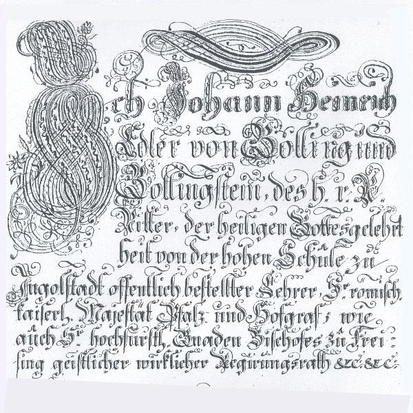 Wappenbrief von Stadtpfarrer Johann Heinrich von Golling und die