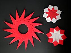 Sternenzauber aus dem Workshop im Stadtmuseum Deggendorf