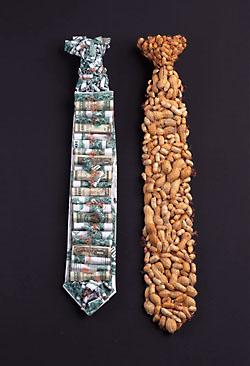 Krawatten aus der Ausstellung